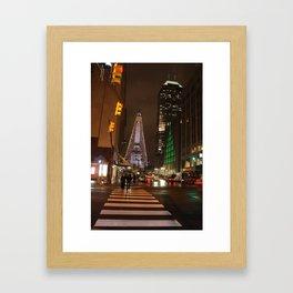Raining in Indianapolis Framed Art Print