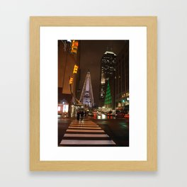 Raining in Indianapolis Framed Art Print