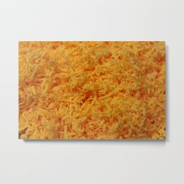 Grated Cheddar Cheese Metal Print