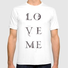 Love Me White MEDIUM Mens Fitted Tee