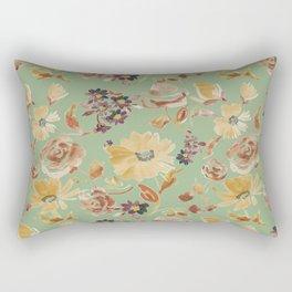 summer watercolor neutral Rectangular Pillow