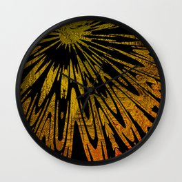 Native Tapestry in Gold Wall Clock