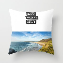 Good vibes only Ocean very Throw Pillow