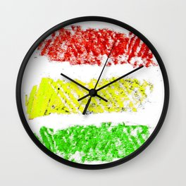 flag of bolivia 5 – Chalk version bolivian,boliviano,bolivian,Sucre, La Paz. Wall Clock