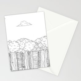 BigFoot Forest (Black and White) Stationery Cards
