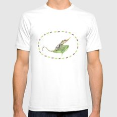 The Horned Anole Mens Fitted Tee SMALL White