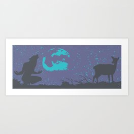 The Werewolf of Saddle Creek Art Print