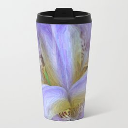 Purple Iris in Pencil Sketch 0174 Travel Mug