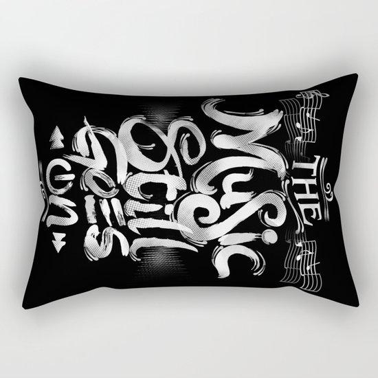 Music Still Goes On Rectangular Pillow