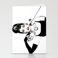 audrey Stationery Cards featuring Audrey by Clementine Petrova