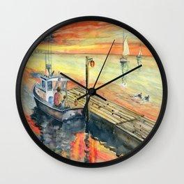 A Delightful Evening Wall Clock