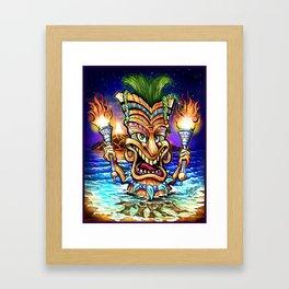 Tiki Time Framed Art Print