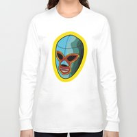 mask Long Sleeve T-shirts featuring mask by mark ashkenazi