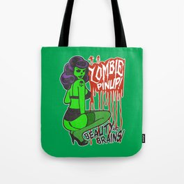 Zombie Bombshell Pinup Tote Bag