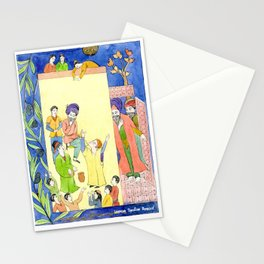 Arabian Nights-Ali Cogia and the children play Stationery Cards