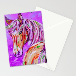 Cinnamon in Pink - Palomino Horse Art Stationery Cards