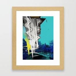 cyan alternative Framed Art Print