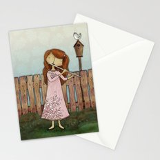 Lucy Plays a Song of a New Birth Stationery Cards