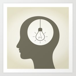 Idea in a head Art Print