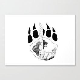 Bear Claw Canvas Print