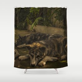 Gengis and Fenris Shower Curtain