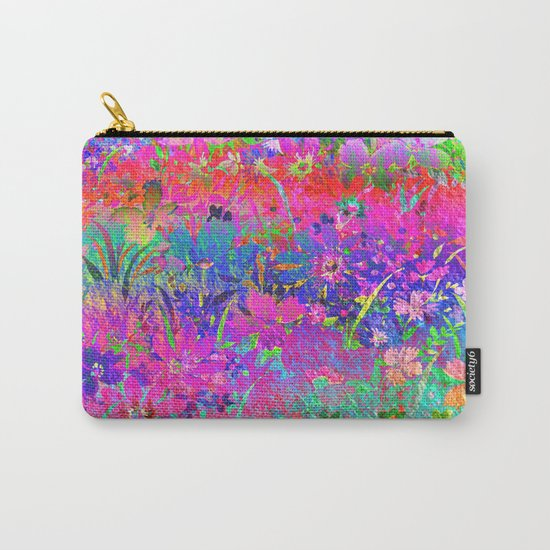 Bright Flower Garden Carry-All Pouch