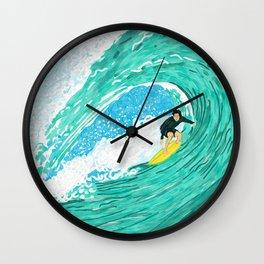 Big wave surfer Wall Clock