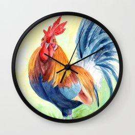 Kauai Island Rooster 4 Wall Clock