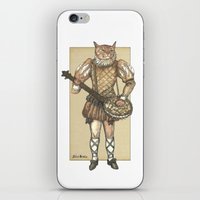 banjo iPhone & iPod Skins featuring Banjo Cat by Felis Simha
