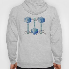 Bacteriophage 2, Science art, science, virus, microbiology, virology, geekery, science illustration Hoody