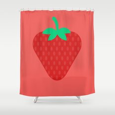 #22 Strawberry Shower Curtain