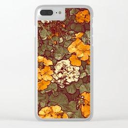 Orange Geranium, Plant of Feminine Healing Clear iPhone Case