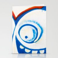 grafitti Stationery Cards featuring Grafitti Face by Leslie Philipp
