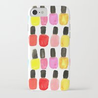 nail polish iPhone & iPod Cases featuring Nail Polish by Bouffants and Broken Hearts