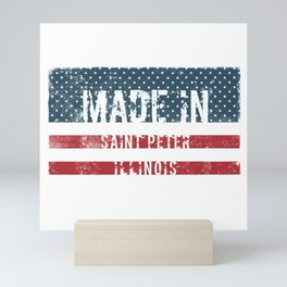 Made in Saint Peter, Illinois Mini Art Print