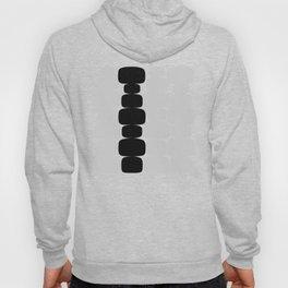 Abstraction_Balance_ROCKS_BLACK_WHITE_Minimalism_001 Hoody