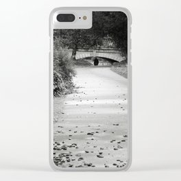 Black and white path Clear iPhone Case