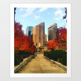 Boston: Follow Me into the Fall Art Print