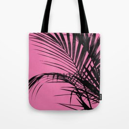 Palm leaves paradise with pink Tote Bag
