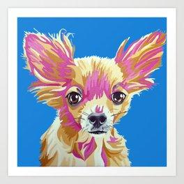 Lucas the chihuahua Art Print
