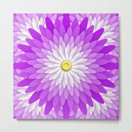 Ornamented Floral Mandala  1 Metal Print