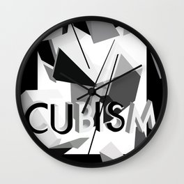 History of Art in Black and White. Cubism Wall Clock