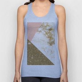 Gold marble collage Unisex Tank Top