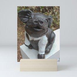 Black and White Pig Statue  Mini Art Print