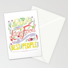 Julia Child Food Quotation Stationery Cards