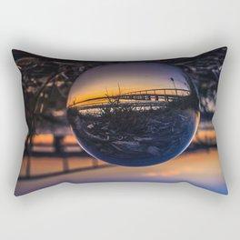 Sunset along the Long Jetty Lensball Rectangular Pillow