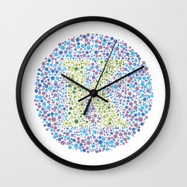 """K"" Eye Test Letter Circle Wall Clock"