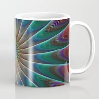 fractal Mugs featuring Peacock fractal by David Zydd