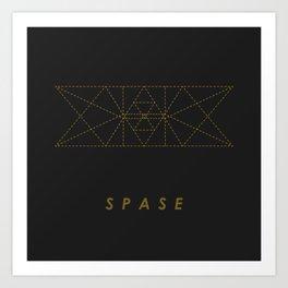 SPASE Golden Collaspe Art Print