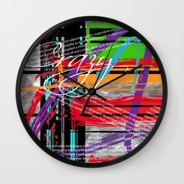 Crazy Cool Abstract Wall Clock